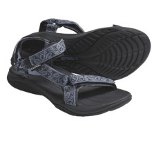 Teva Pretty Rugged Nylon 3 Sport Sandals (For Women) in Lierre Blue - Closeouts