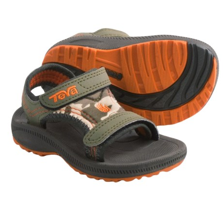 Teva Psyclone 2 Print Sport Sandals (For Toddlers) in Camo Dark Olive