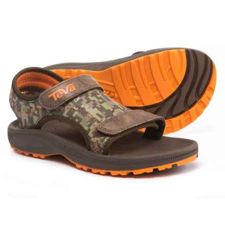 Teva Psyclone 4 Sport Sandals (For Boys) in Brown  Camo - Closeouts