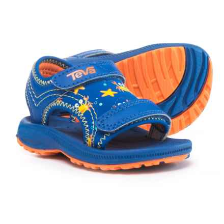 Teva Psyclone 4 Sport Sandals (For Infant and Toddler Boys) in Crazy Crabs Blue/Orange - Closeouts