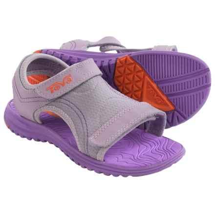 Teva Psyclone 5 Sport Sandals (For Little Girls) in Purple/Orange - Closeouts