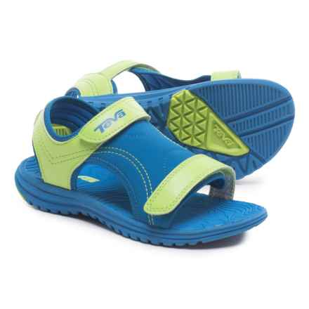 Teva Psyclone 6 Water Sandals (For Little Kids) in Blue/Lime - Closeouts