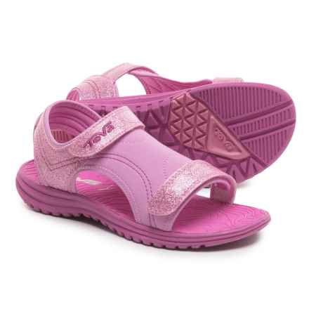 Teva Psyclone 6 Water Sandals (For Little Kids) in Pink Glitter - Closeouts