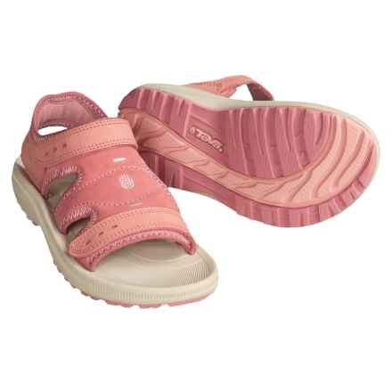 Teva Psyclone Leather Sandals (For Youth) in Strawberry Ice - Closeouts