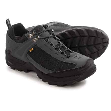 Teva Raith III Low Leather Hiking Shoes - Waterproof (For Men) in Dark Shadow - Closeouts