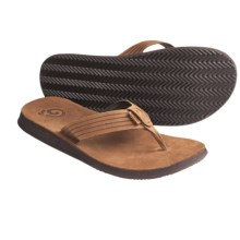 Teva Redondo Flip-Flop Sandals - Leather (For Men) in Brown - Closeouts