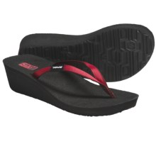 Teva Ribbon Mush® Wedge Sandals (For Women) in Red - Closeouts