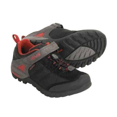 Teva Riva Mesh Shoes - T.I.D.E. Waterproof (For Kids and Youth) in Black Pepper
