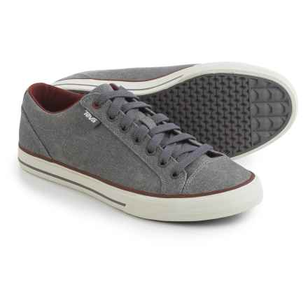Teva Roller Washed Canvas Sneakers (For Men) in Grey - Closeouts