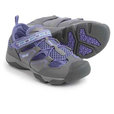 Teva Rollick Shoes (For Little Kids) in Grey/Purple - Closeouts