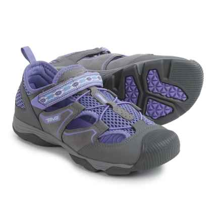Teva Rollick Water Shoes (For Big Kids) in Grey/Purple - Closeouts