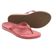 Teva Sanibel Sandals - Leather, Flip-Flops (For Women) in Sugar Coral - Closeouts