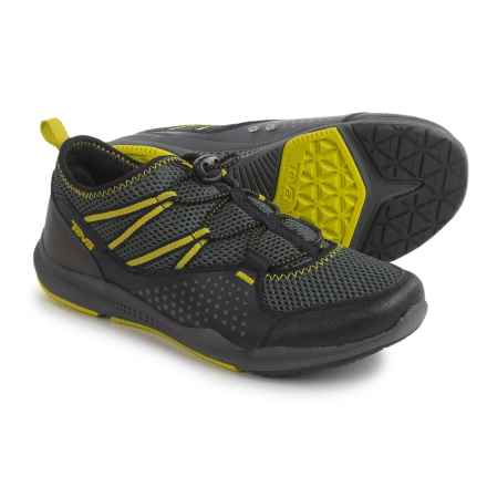 Teva Scamper Trail and Water Shoes (For Big Kids) in Black/Grey/Lime - Closeouts