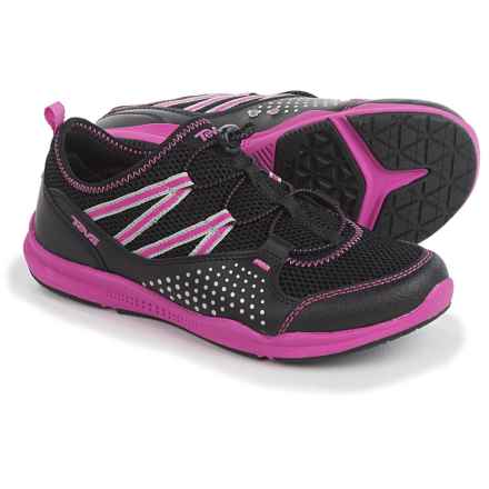 Teva Scamper Trail and Water Shoes (For Big Kids) in Black/Pink - Closeouts