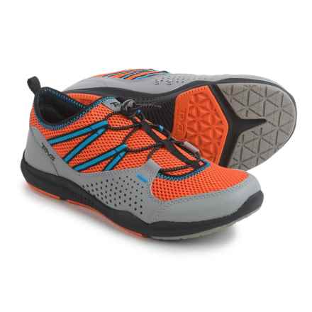Teva Scamper Trail and Water Shoes (For Big Kids) in Grey/Orange/Blue - Closeouts