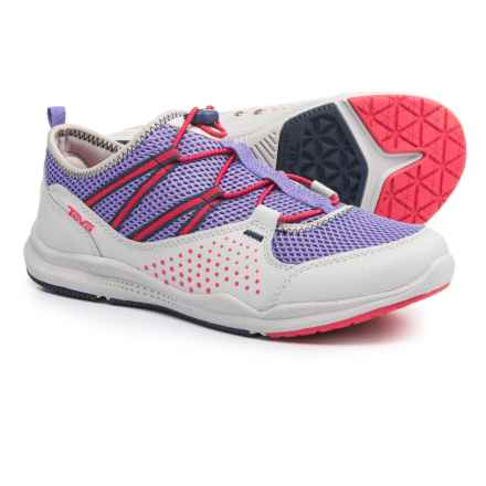 Teva Scamper Trail and Water Shoes (For Big Kids) in Grey/Purple/Pink - Closeouts