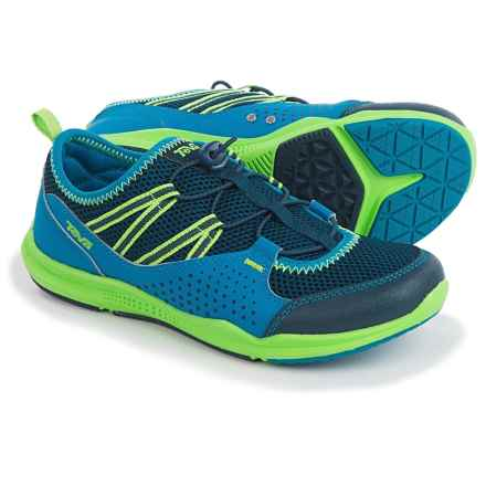 Teva Scamper Trail and Water Shoes (For Big Kids) in Royal/Navy/Lime - Closeouts
