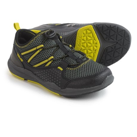 Teva Scamper Trail and Water Shoes - Leather (For Little Kids) in Black/Grey/Lime