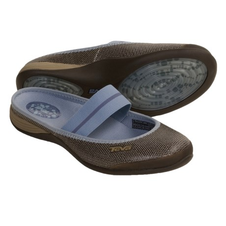 Teva Sidra Shoes - Leather Slip-Ons (For Women) in Brown