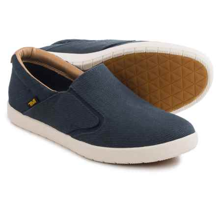 Teva Sterling Shoes - Canvas, Slip-Ons (For Men) in Navy - Closeouts