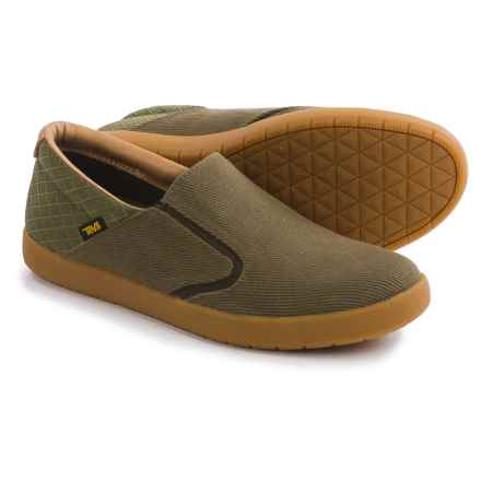 Teva Sterling Shoes - Canvas, Slip-Ons (For Men) in Olive - Closeouts
