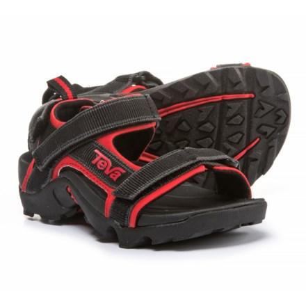 3550f28884f8fc Teva Tanza Sport Sandals (For Boys) in Black Red - Closeouts