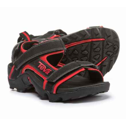 Teva Tanza Sport Sandals (For Boys) in Black/Red - Closeouts