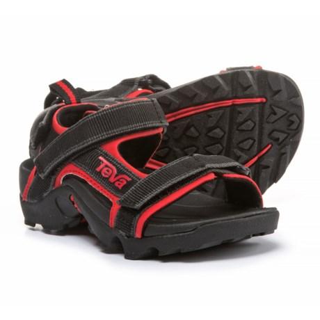 Teva Tanza Sport Sandals (For Boys) in Black/Red