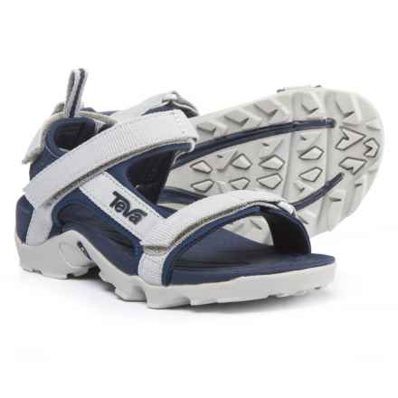 Teva Tanza Sport Sandals (For Boys) in Grey/Navy - Closeouts