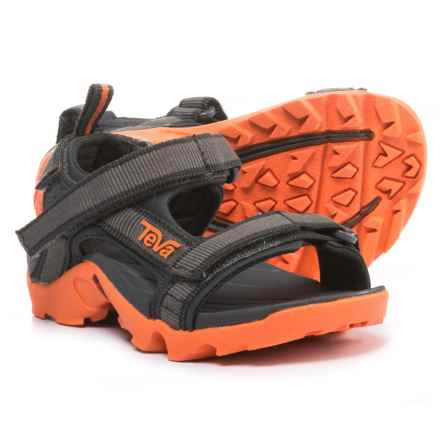 Teva Tanza Sport Sandals (For Infant and Toddler Boys) in Grey/Orange - Closeouts