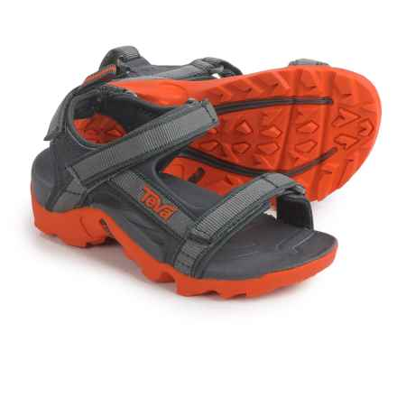 Teva Tanza Sport Sandals (For Kids and Youth) in Grey/Orange - Closeouts