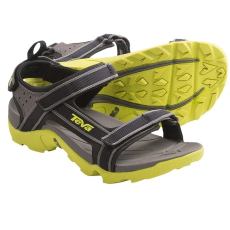 Teva Tanza Sport Sandals (For Kids and Youth) in Neon Lime