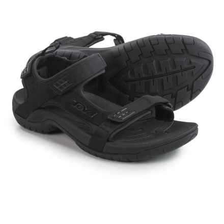 Teva Tanza Sport Sandals (For Men) in Black - Closeouts