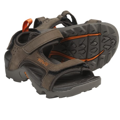 Teva Tanza Sport Sandals - Leather (For Kids and Youth) in Turkish Coffee