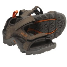 Teva Tanza Sport Sandals - Leather (For Kids) in Turkish Coffee - Closeouts
