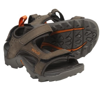 Teva Tanza Sport Sandals - Leather (For Kids) in Turkish Coffee