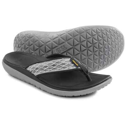 Teva Terra-Float Flip-Flops (For Men) in Charcoal Black - Closeouts