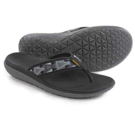 Teva Terra-Float Flip-Flops (For Men) in Mosaic Black/Dusk - Closeouts