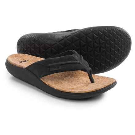 Teva Terra-Float Flip Lux Sandals (For Men) in Black - Closeouts