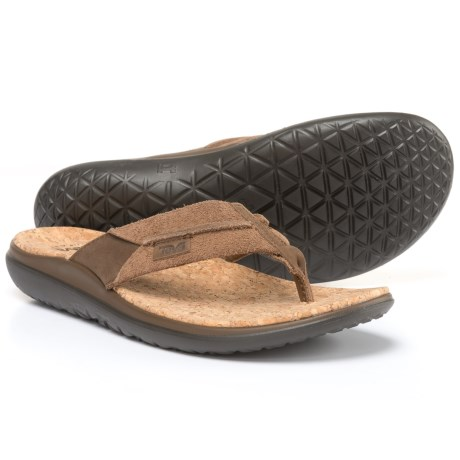 Teva Terra-Float Flip Lux Sandals (For Men) in Dark Earth