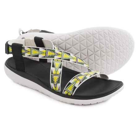 Teva Terra-Float Livia Sport Sandals (For Women) in Lime/White - Closeouts