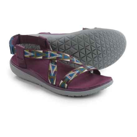 Teva Terra-Float Livia Sport Sandals (For Women) in Mosaic Grape Wine - Closeouts