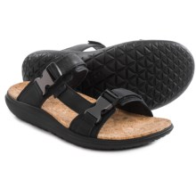 Teva Terra-Float Slide Lux Sandals - Leather (For Men) in Black - Closeouts