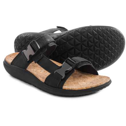 Teva Terra-Float Slide Lux Sandals - Leather (For Men) in Black - Closeouts
