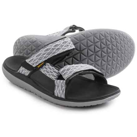 Teva Terra-Float Slide Sandals (For Men) in Charcoal Black - Closeouts