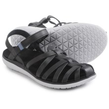 Teva Terra-Float Stella Lux Leather Sandals (For Women) in Black - Closeouts