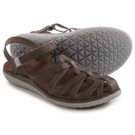 Teva Terra-Float Stella Lux Leather Sandals (For Women) in Brown - Closeouts