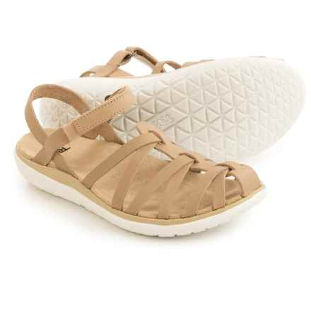 Teva Terra-Float Stella Lux Leather Sandals (For Women) in Natural - Closeouts