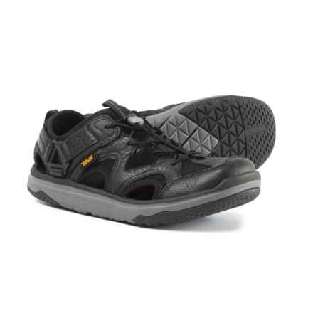 Teva Terra-Float Travel Water Shoes - Leather (For Men) in Black - Closeouts