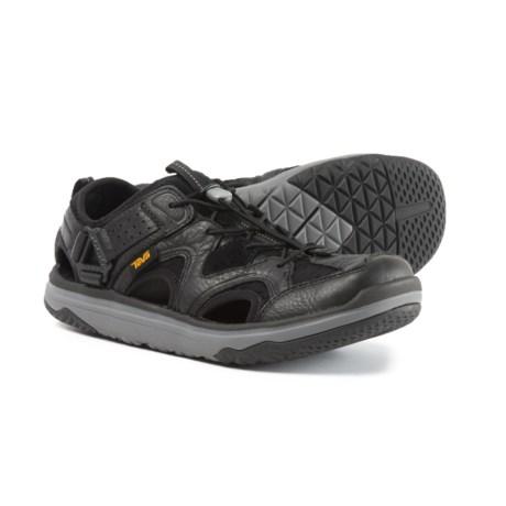 Teva Terra-Float Travel Water Shoes - Leather (For Men) in Black